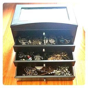 wood jewelry  organizer